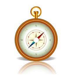 Object compass vector art