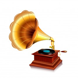 Object gramophone vector art