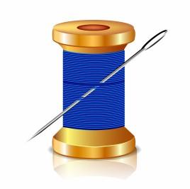 Object needle and thread vector art
