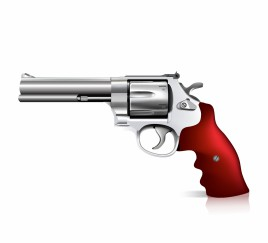 Object revolver vector art