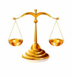 Object scale justice vector art
