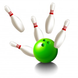 Object skittles and bowling ball