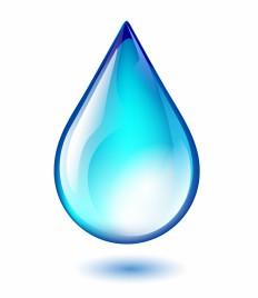 Object water drop vector art