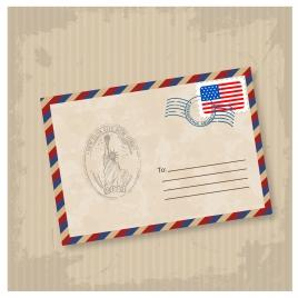 old mail envelope illustration
