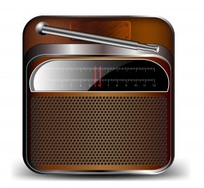 old radio cassette