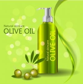 olive oil advertisement shiny green design bokeh backdrop