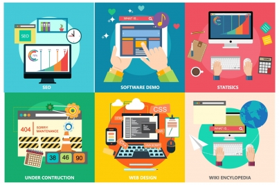 online marketing processes isolated with applications