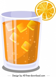 orange juice advertising background modern 3d design