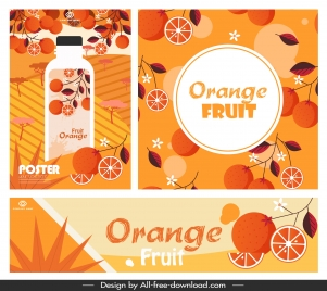 orange juice advertising banners classical colored decor