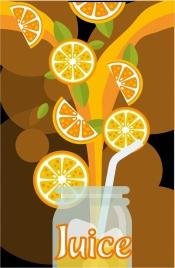 orange juice background pouring jar decoration colorful design
