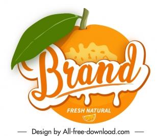 orange label template colored flat sketch