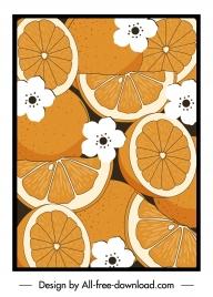 orange painting retro handdrawn flat design