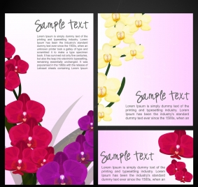 orchids paintings sets colorful decoration