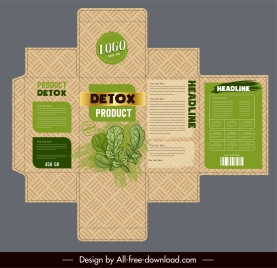 organic product package template classic plants decor