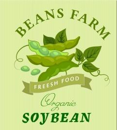 organic soybean advertisement green symbol decoration