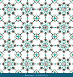oriental pattern template geometrical repeating symmetric shapes illusion