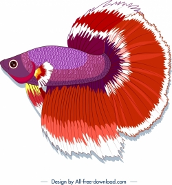 ornamental fish icon colorful design