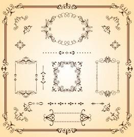 Ornate Borders and Scrolls