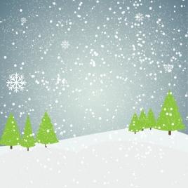 outdoor snow flake landscape
