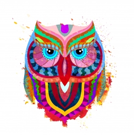 owl face abstract illustration