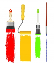 paint brush and rulo set