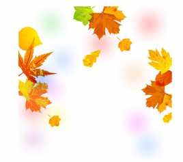 Painted Autumn Leaves Background