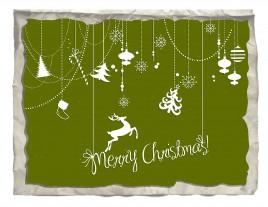 paper merry christmas card decor