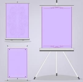 paper poster templates vertical violet roll design