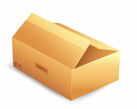 Parcel packaging box