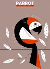 parrot background classical sketch geometric design
