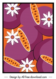 passion fruit pattern colored classic design