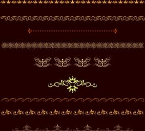 pattern ornament design elements classical repeatable curves decoration