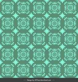 pattern template classical repeating symmetric decor dark green