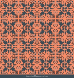pattern template classical repeating symmetrical flora sketch