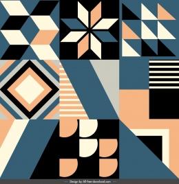 pattern templates classical symmetric geometrical decor
