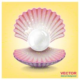 pearl in open sea shell