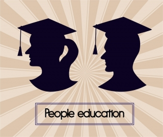 people education design heads silhouettes style