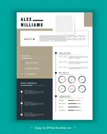 personal cv template modern design contrast decor