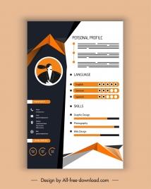 personal profile template modern elegant contrast decor