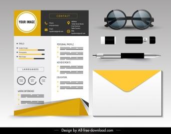 personal resume template bright modern elegant decor