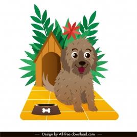 pet icon puppy sketch cute cartoon design