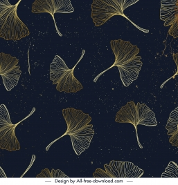 petals pattern dark classical handdrawn repeating sketch