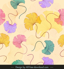 petals pattern template classic colorful handdrawn sketch