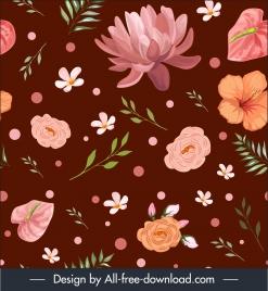 petals pattern template elegant classical decor handdrawn design