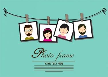 photo frames decoration theme hanging on line style
