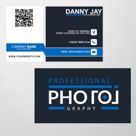 photography name card