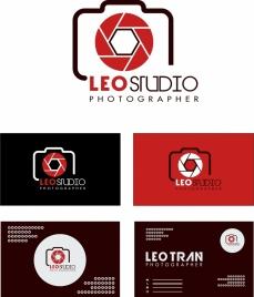 photography studio logo design on various background