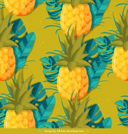 pineapple background colorful classical repeating design