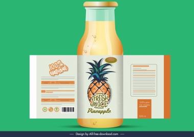 pineapple juice label classic fruit decor