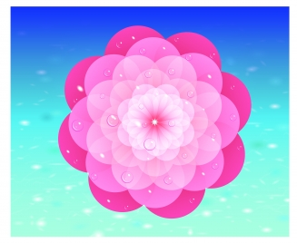 pink flower design element